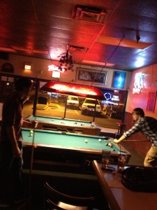 Tink's is outfitted with five TVs, an NFL package, two pool tables, a 12-seater bar, high-top tables, darts, a Golden Tee golf game and a digital jukebox.