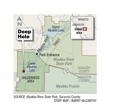 Deep Hole locator map